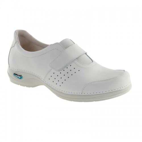 Sapato Wash'Go com velcro|Branco