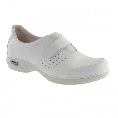 The shoe Wash'Go with the velcro closure, White