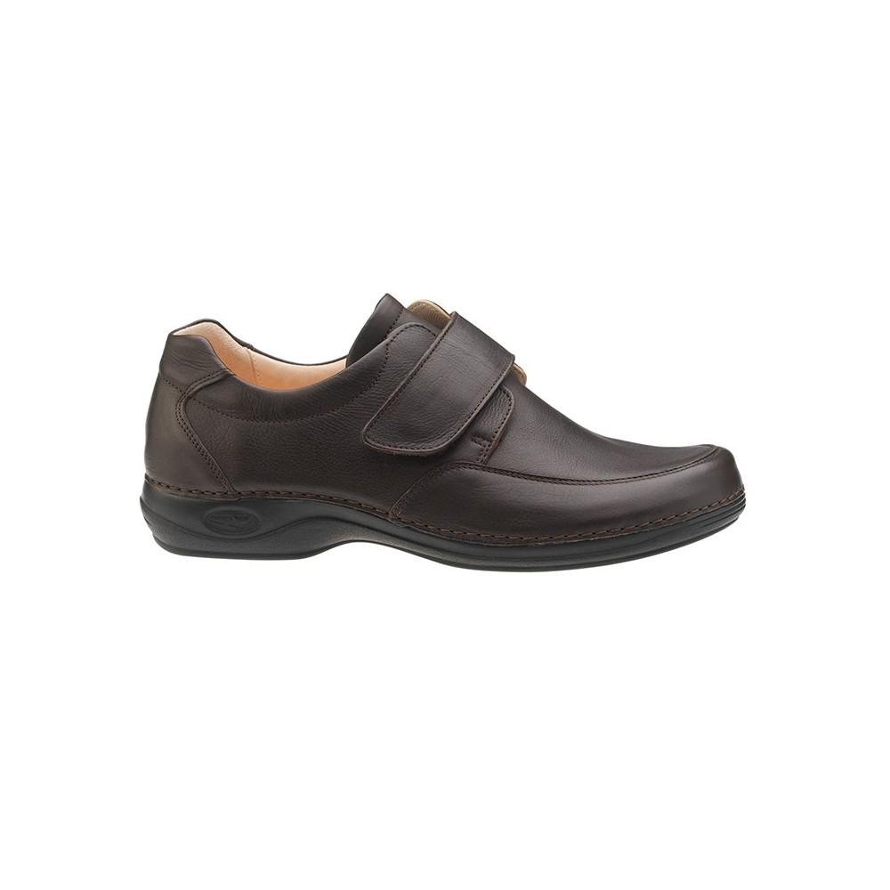 Sapato Comfy homem ajustável | Castanho