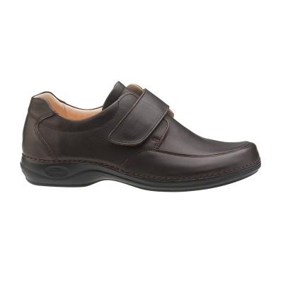 Sapato Comfy homem ajustável   Castanho