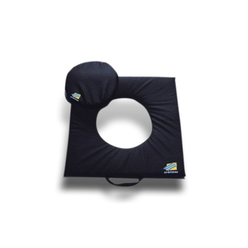 Almofada Gel Viscoelástico Capa Polymaille com Orifício