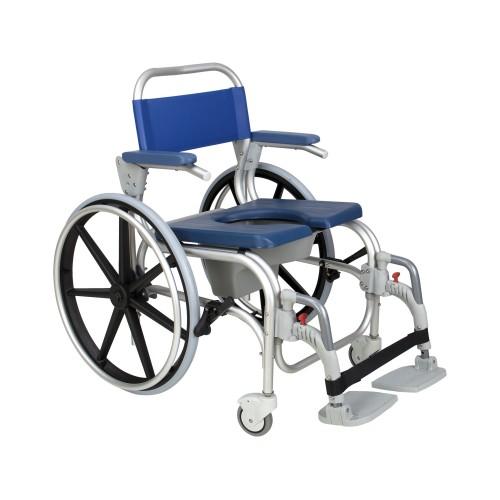 Cadeira de Banho e Sanitária Atlantic ABS Rodas Grandes