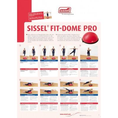 Meia Bola de Equilíbrio Fit-Dome Pro