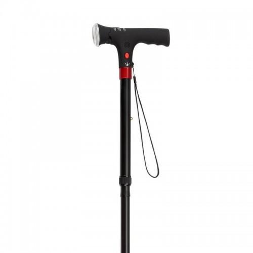 Adjustable Walking Cane with LED Flashlight