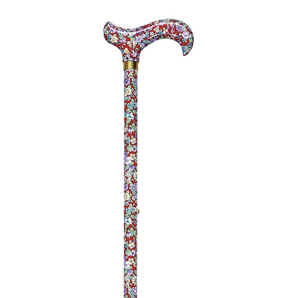 Adjustable Walking Cane in Aluminium Floral 417