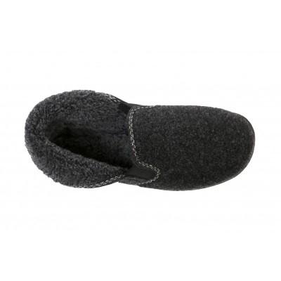 Warm Slippers in Wool Freixo Grey