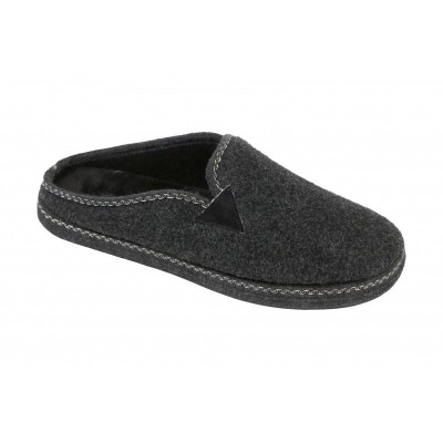 Warm Slippers in Wool Cedro Grey