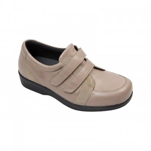 Sapato Diabético Luisa Taupe