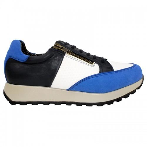 Sapato Diabético Santorini Branco/Azul