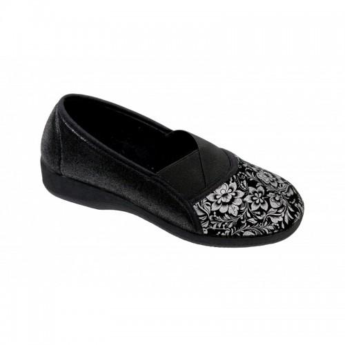 Sapatos Confortáveis em Malha Optimum Goji Preto/Prata