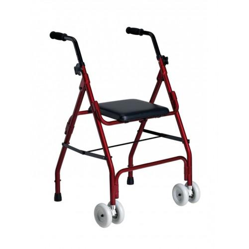 Andarilho Alumínio com 2 Rodas e Assento